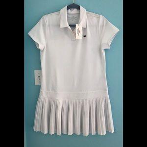 Vineyard Vines Women's Golf pleated Polo Dress.